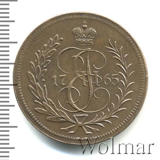 1 копейка 1765 г. ЕМ. Екатерина II. Буквы ЕМ. Новодел