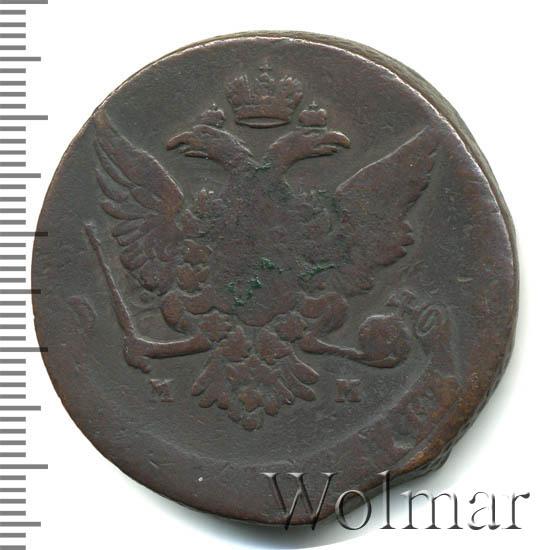 5 копеек 1759 г. ММ. Елизавета I. Обозначение монетного двора ММ