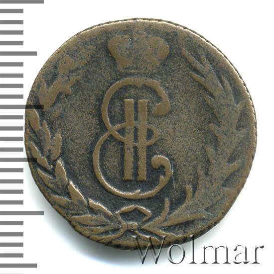 Денга 1766 г. Сибирская монета (Екатерина II) Гурт шнуровидный