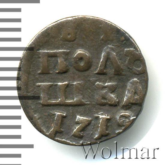 Полушка 1719 г. Петр I. Год арабский