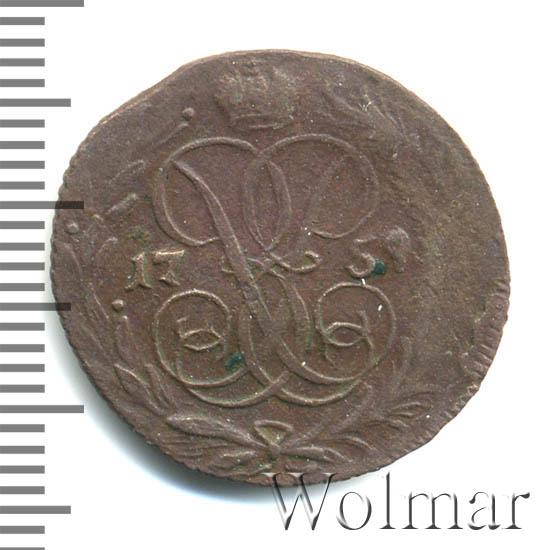 Денга 1757 г. Елизавета I Тиражная монета