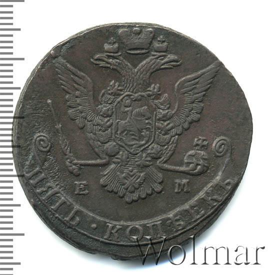 5 копеек 1774 г. ЕМ. Екатерина II. Орел 1763-1767