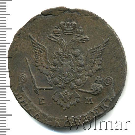 5 копеек 1778 г. ЕМ. Екатерина II. Екатеринбургский монетный двор. Орел 1770-1777