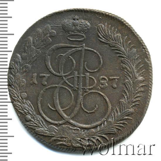 5 копеек 1787 г. КМ. Екатерина II. Сузунский монетный двор