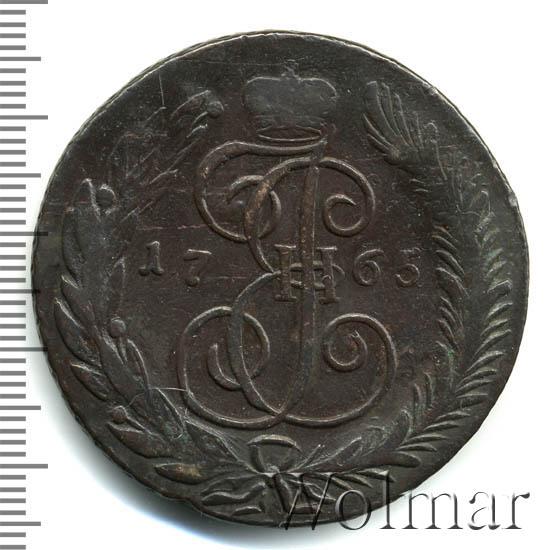 5 копеек 1765 г. СМ. Екатерина II Сестрорецкий монетный двор. СМ больше