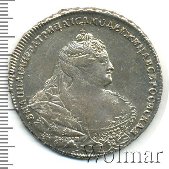1 рубль 1740 г. Анна Иоанновна. Красный тип.