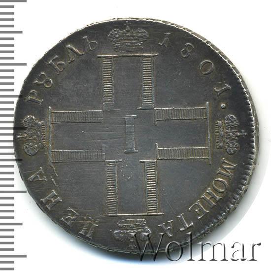1 рубль 1801 г. СМ АИ. Павел I. Инициалы минцмейстера АИ