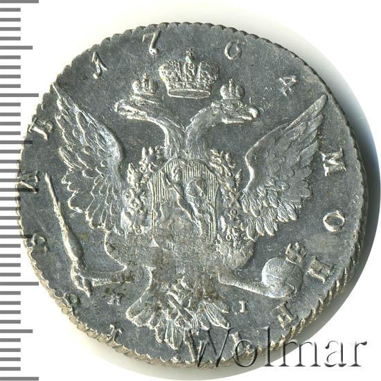 1 рубль 1764 г. СПБ ЯI. Екатерина II Инициалы минцмейстера ЯI