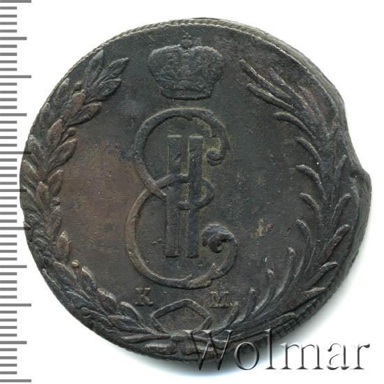 10 копеек 1768 г. КМ. Сибирская монета (Екатерина II). Тиражная монета
