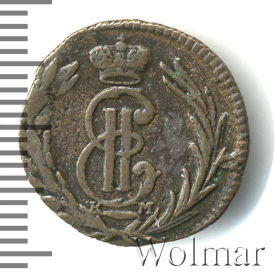 Полушка 1767 г. КМ. Сибирская монета (Екатерина II) Тиражная монета