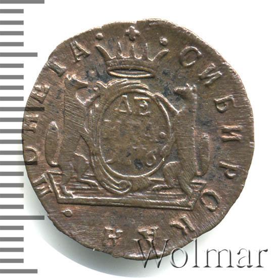 Денга 1776 г. КМ. Сибирская монета (Екатерина II). Тиражная монета