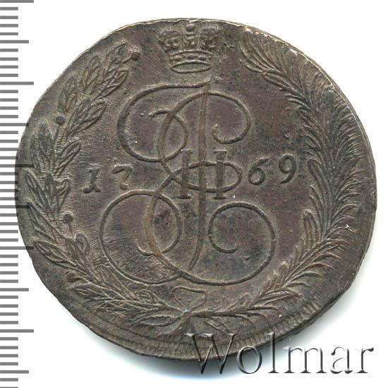 5 копеек 1769 г. ЕМ. Екатерина II. Орел 1770-1777