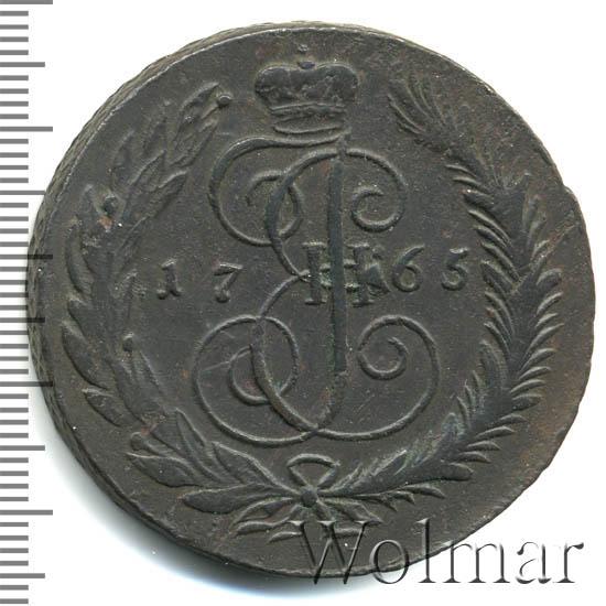 5 копеек 1765 г. СМ. Екатерина II. Сестрорецкий монетный двор. СМ меньше
