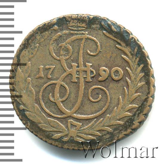 Денга 1790 г. Екатерина II Без обозначения монетного двора