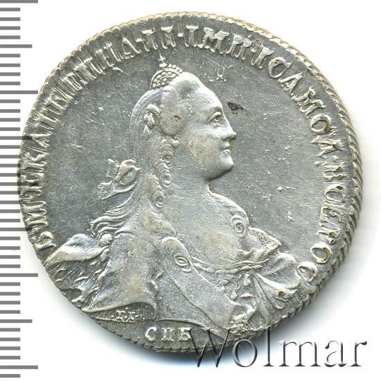 1 рубль 1766 г. СПБ АШ. Екатерина II. Санкт-Петербургский монетный двор. Стандартного чекана