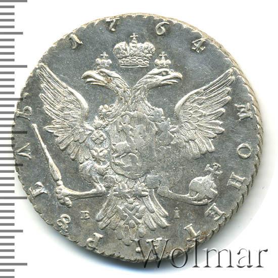 1 рубль 1764 г. ММД EI. Екатерина II. Инициалы минцмейстера EI