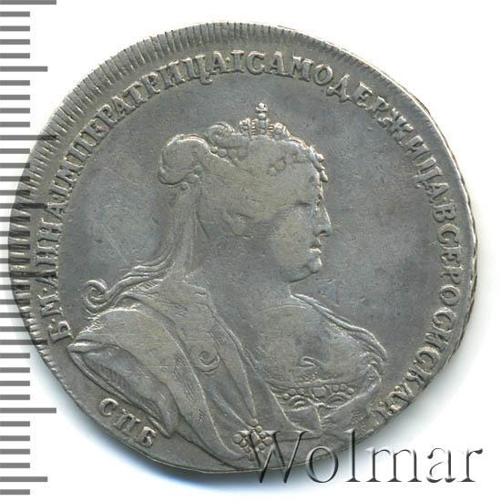 Полтина 1738 г. СПБ. Анна Иоанновна Петербургский тип. С обозначением монетного двора