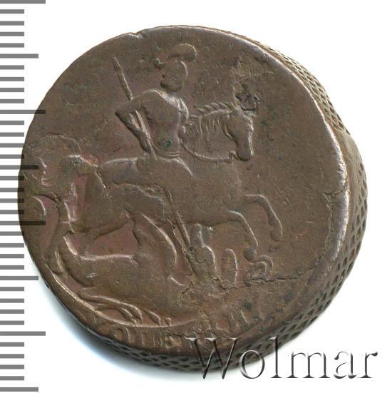 2 копейки 1757 г. Елизавета I. Номинал под св. Георгием. Красный монетный двор