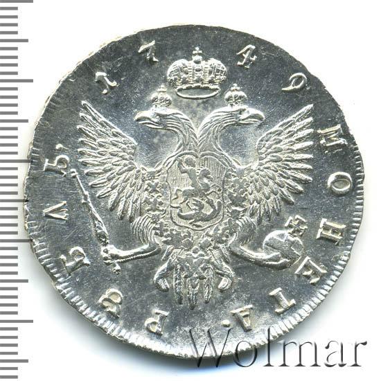 1 рубль 1749 г. СПБ. Елизавета I. Санкт-Петербургский монетный двор