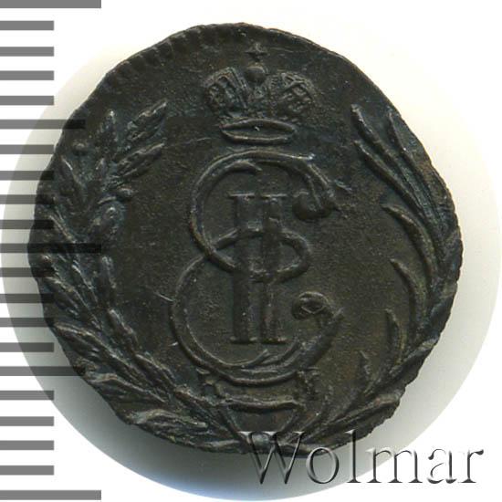 Полушка 1777 г. КМ. Сибирская монета (Екатерина II). Тиражная монета