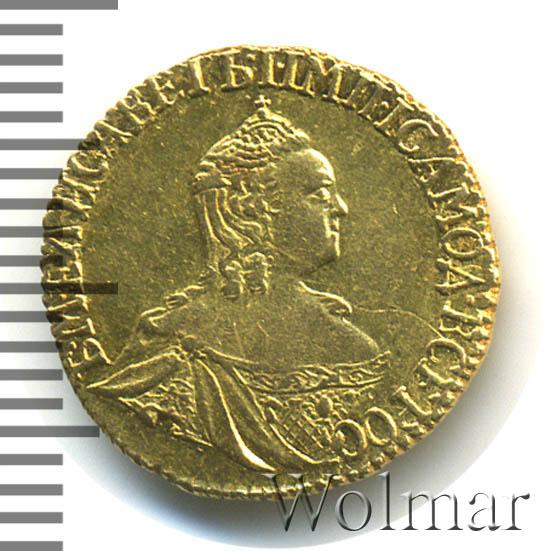 1 рубль 1756 г. ММД МБ. Елизавета I. Красный монетный двор. Инициалы минцмейстера МБ