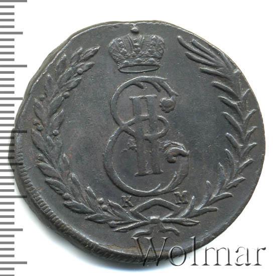 5 копеек 1772 г. КМ. Сибирская монета (Екатерина II) Тиражная монета