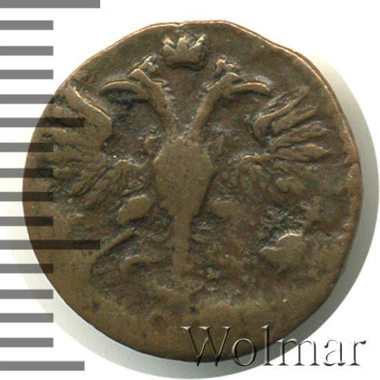 Полушка 1721 г. Петр I. Год арабский. Тиражная монета