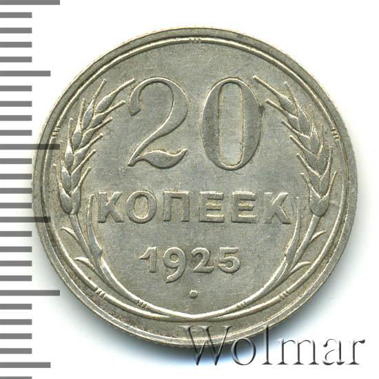 20 копеек 1925 г Перепутка - штемпель 1.1. 1 копейки 1924 г