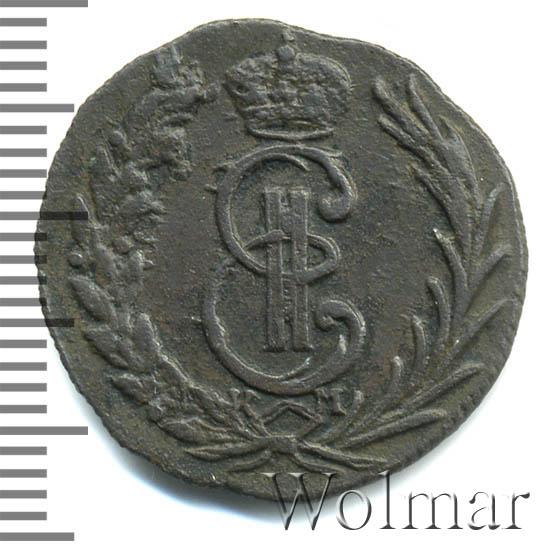 Денга 1774 г. КМ. Сибирская монета (Екатерина II). Тиражная монета