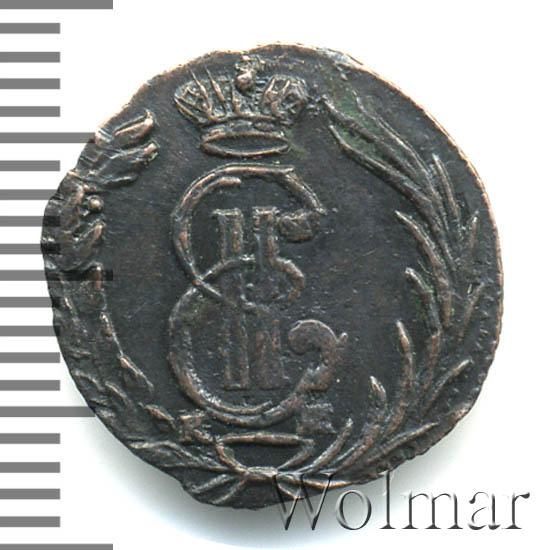 Полушка 1769 г. КМ. Сибирская монета (Екатерина II). Тиражная монета