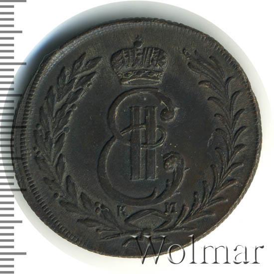 5 копеек 1776 г. КМ. Сибирская монета (Екатерина II) Тиражная монета