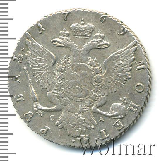 1 рубль 1769 г. СПБ СА. Екатерина II. Санкт-Петербургский монетный двор