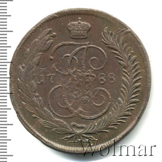 5 копеек 1788 г. ММ. Екатерина II. Красный монетный двор. ММ под орлом