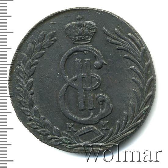 10 копеек 1781 г. КМ. Сибирская монета (Екатерина II).