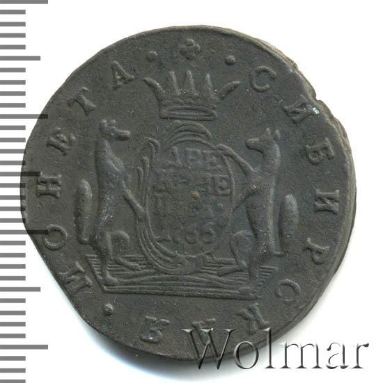 2 копейки 1766 г. Сибирская монета (Екатерина II). Гурт надпись и ромбы