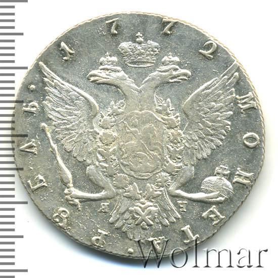 1 рубль 1772 г. СПБ ЯЧ ТI. Екатерина II. Буквы ЯЧ ТI